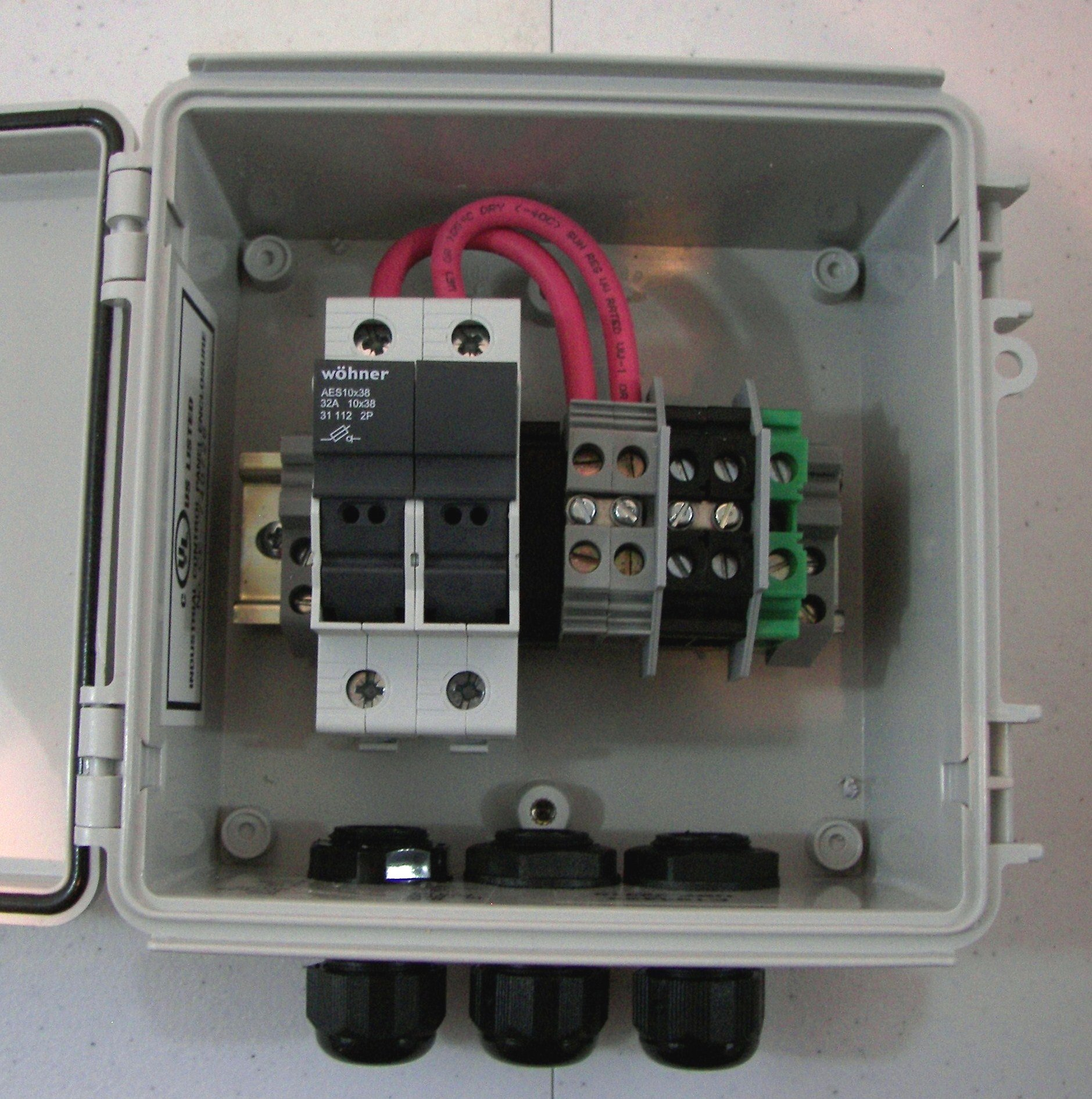 Compact Solar Power Combiner Box