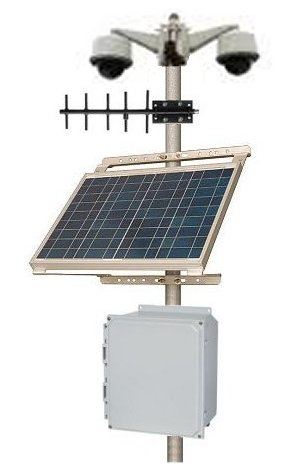 Remote Security Camera Solar Power System